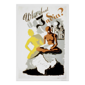 India Buddha Gandhi 1941 WPA Poster