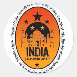 india classic round sticker