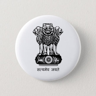 India coat of arms 2 inch round button