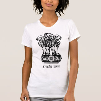 India Coat of Arms detail T-Shirt