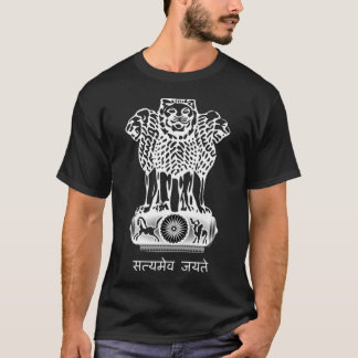 India Coat of Arms Flag T-Shirt