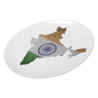 india country flag party plates