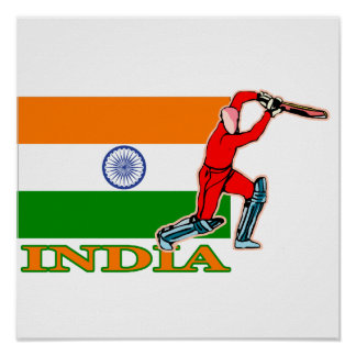 India Cricket Player Poster