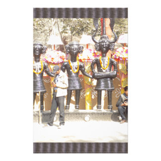 India cultural show statue of musicians artists stationery