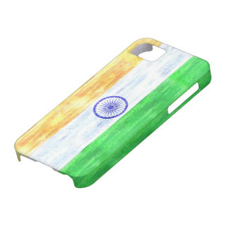 India distressed Indian flag iPhone 5 Cases