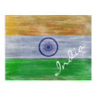 India distressed Indian flag Postcard