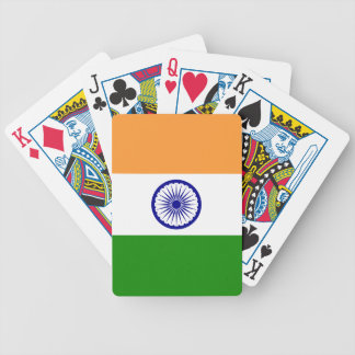India Flag Bicycle Playing Cards