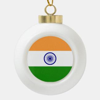 India Flag Ceramic Ball Ornament