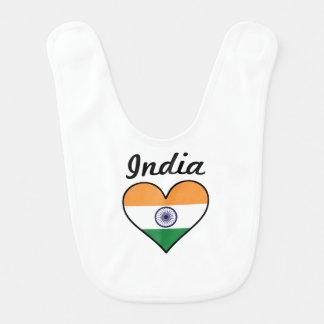 India Flag Heart Bib