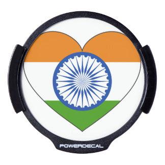 India Flag Heart LED Auto Decal