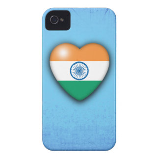 India Flag Heart pale blue background iphone iPhone 4 Cover