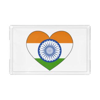 India Flag Heart Perfume Tray