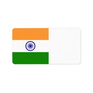 India Flag Label