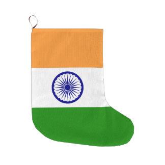 India Flag Large Christmas Stocking