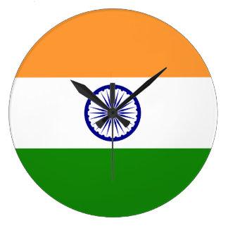 India Flag Large Clock