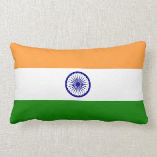 India Flag Lumbar Pillow