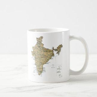 India Flag ~ Map Mug