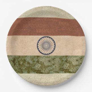 India Flag Paper Plates