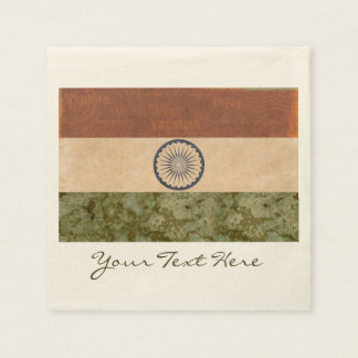 India Flag Party Napkins Paper Napkin