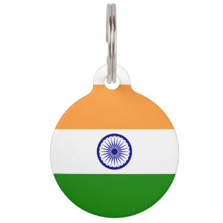 India Flag Pet ID Tag