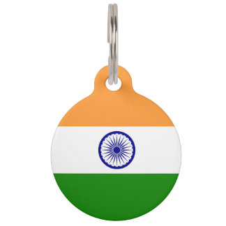 India Flag Pet Tag