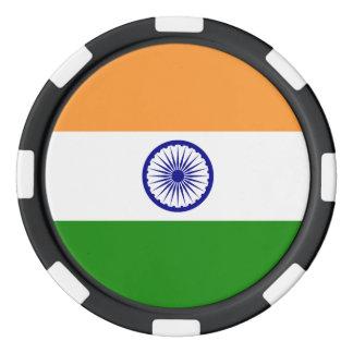 India Flag Poker Chips