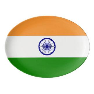 India Flag Porcelain Serving Platter