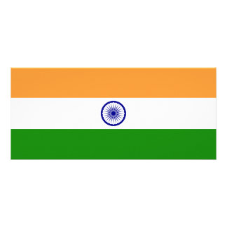 India Flag Rack Card