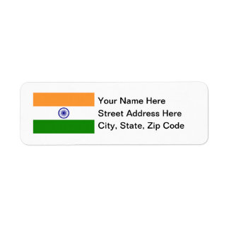 India Flag Return Address Label