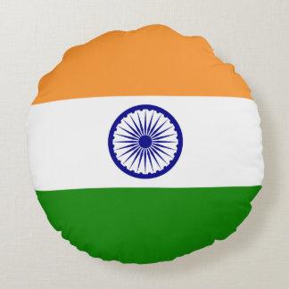 India Flag Round Pillow