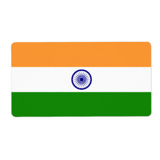 India Flag Shipping Label
