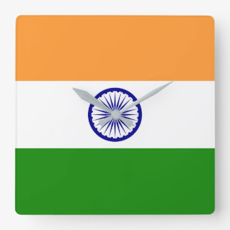 India Flag Square Wall Clock
