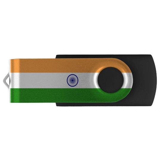 India Flag Swivel USB 2.0 Flash Drive