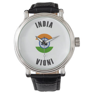 India Flag Wheel Watch
