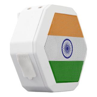 India Flag White Bluetooth Speaker