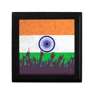 India Flag with Audience Jewelry Box