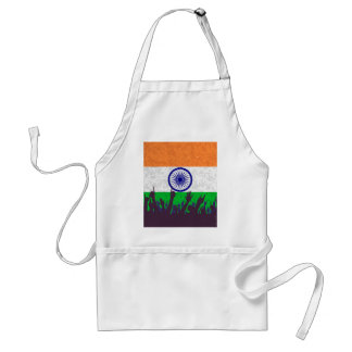 India Flag with Audience Standard Apron