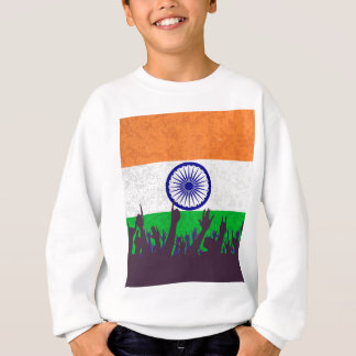 India Flag with Audience Sweatshirt