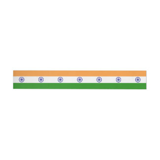 India Flag Wraparound Address Label