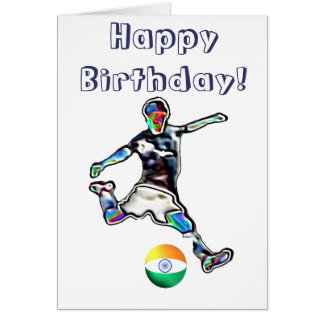 India Football soccer birthday card