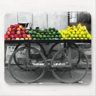 India Fruit Cart Mouse Pad