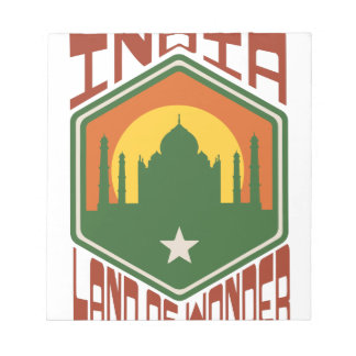 India Land Of Wonder Notepad