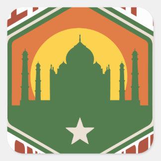 India Land Of Wonder Square Sticker