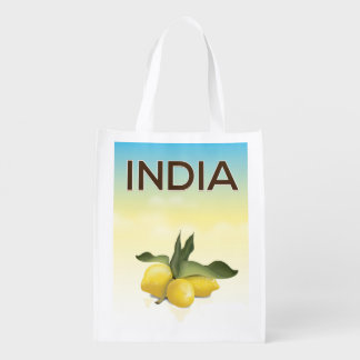 India Lemon travel poster Market Tote