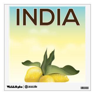 India Lemon travel poster Wall Sticker
