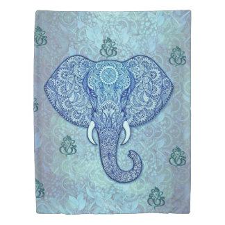 India lord-Ganesh-Elephant art Duvet Cover