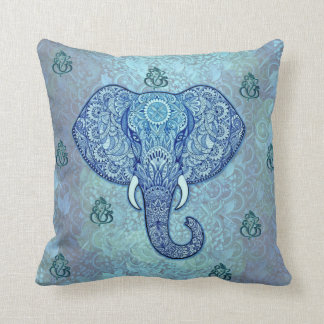 India lord-Ganesh-Elephant art Throw Pillow