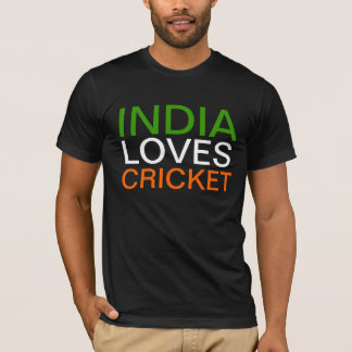 India Loves Cricket T- Shirt
