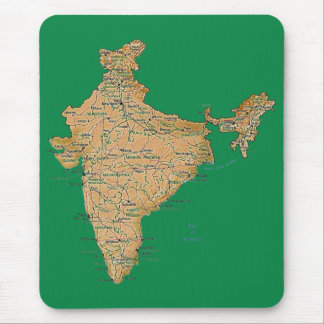 India Map Mousepad