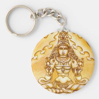 India Meditation Keychain